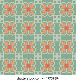 background vintage Flowers Seamless Pattern