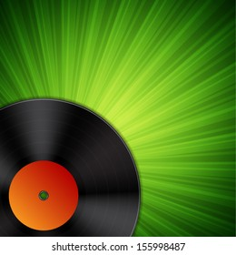 Background with vinyl record. EPS10 vector