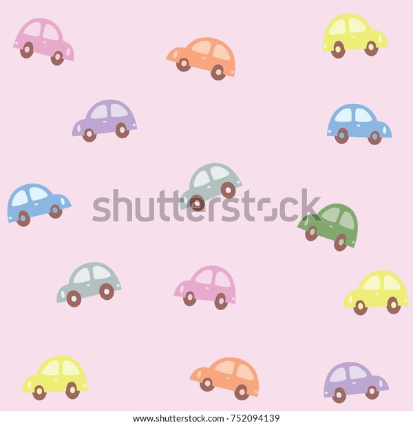 Background Wallpaper Car Pastel Stock Vector Royalty Free 752094139