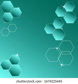 Background wallpaper hexagons abstraction concept vector