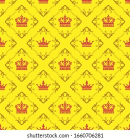 Background Wallpaper. Seamless Pattern In Royal Style. Vector image
