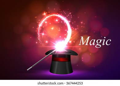 background wand and magical glow