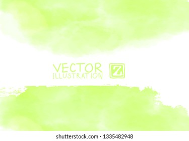Background with watercolor blots. Hand drawn blots element on white background for your design. Design for your date, postcard, banner, logo. Vector illustration.