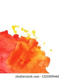 Background with watercolor crop splash. Grunge element for paper design. Vector illustration