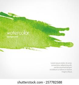 background with Watercolor splash in vector