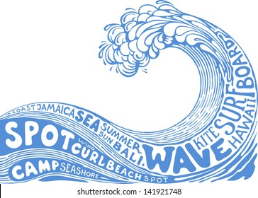 background with wave