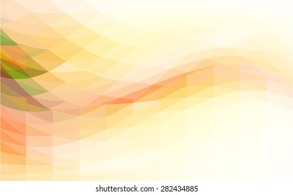 Background with waves and polygons