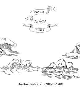 Background with waves. Vector Illustration