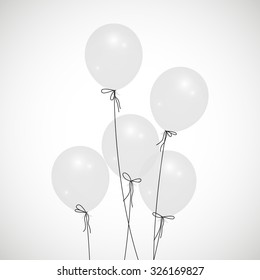 background with white balloons