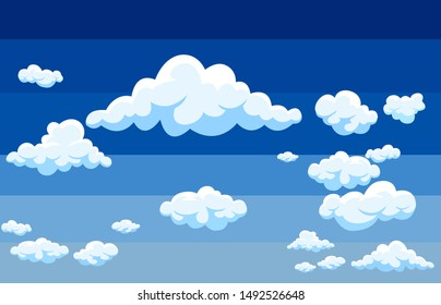 background white clouds on blue sky atmosphere vector.illustration.