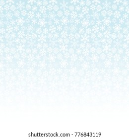 Background with white snowflakes. Vector graphic winter pattern.