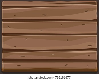 Background with wooden texture. Vector illustration For Ui Game element
