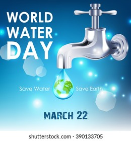 Background of World Water Day.Vector