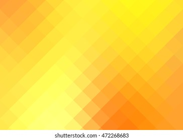 background with yellow and orange squares gradient / background with squares