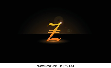 Background Z Initial 3D.  The initials Z vector.  Initials Z for design logos
