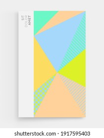 Backgrounds with abstract geometric pattern. Cover design template. Vector illustration. Can be used for advertising, marketing or presentation.