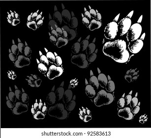 backgrounds animal tracks
