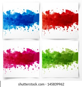 Backgrounds with big bright splashes. Vector illustration.