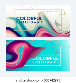 Backgrounds with colorize Dynamic Design. Liquid ink Background for banner, card, poster, poster, identity,web design. Splash art.