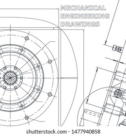 Backgrounds of engineering subjects. Technical illustration. Mechanical engineering