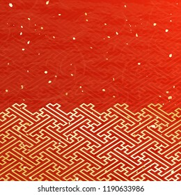 Backgrounds of Japanese paper style