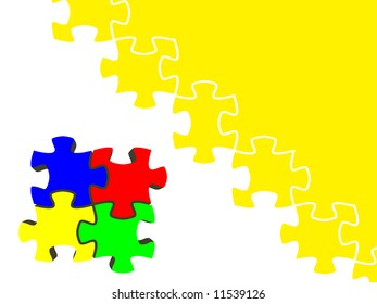 backgrounds of puzzle. vector