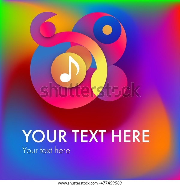 Backgrounds Trendy Design Music Elements Music Stock Vector