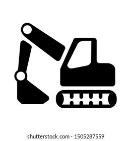 backhoe icon - From Transportation, Logistics and Machines icons set