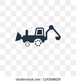 Backhoes vector icon isolated on transparent background, Backhoes transparency concept can be used web and mobile