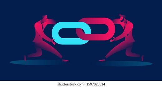 Backlinks or link building. seo concept.  business concept