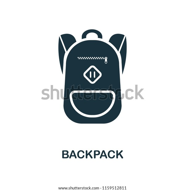 Backpack Creative Icon Simple Element Illustration Stock Image Download Now