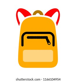 Backpack icon. Logo element illustration. Backpack symbol design from 2 colored collection. Simple Backpack concept. Can be used in web and mobile