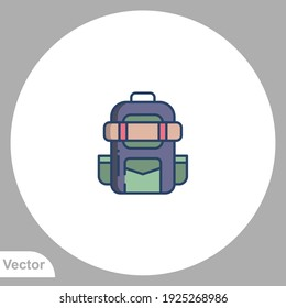 Backpack icon sign vector,Symbol, logo illustration for web and mobile