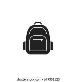 backpack icon vector isolated