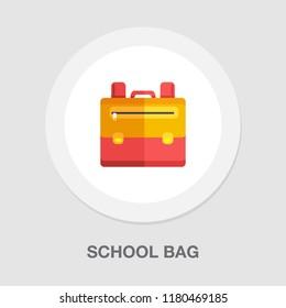 Backpack icon - vector school symbol - travel icon