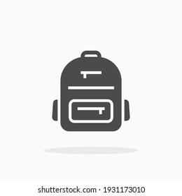 Backpack icon. For your design, logo. Vector illustration.