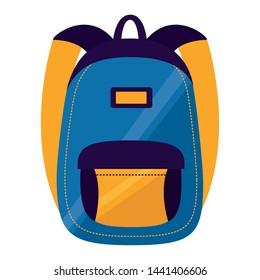 backpack school on white background vector illustration