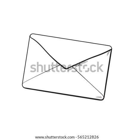 backside envelope sketch vector illustration isolated stock vector