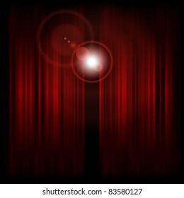 Backstage with spotlight. Vector illustration (eps10).