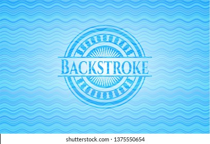 Backstroke water concept style badge.