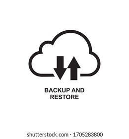 BACKUP AND RESTORE ICON , UPLOAD AND DOWNLOAD CLOUD ICON , BACKUP AND RESTORE ICON