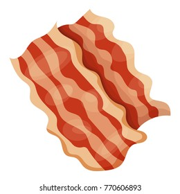 Bacon icon. Cartoon illustration of bacon vector icon for web