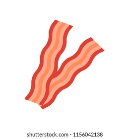 Bacon icon. Flat style