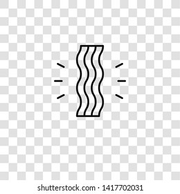 bacon icon from food collection for mobile concept and web apps icon. Transparent outline, thin line bacon icon for website design and mobile, app development
