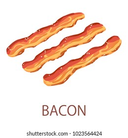Bacon icon. Isometric illustration of bacon vector icon for web