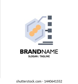 Bacteria, Biochemical, Examination, Form, Life Business Logo Template. Flat Color