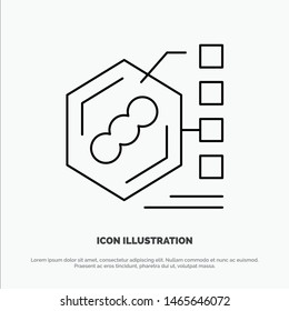 Bacteria, Biochemical, Examination, Form, Life Line Icon Vector. Vector Icon Template background