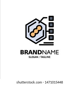 Bacteria, Biochemical, Examination, Form, Life Business Logo Template. Flat Color. Vector Icon Template background