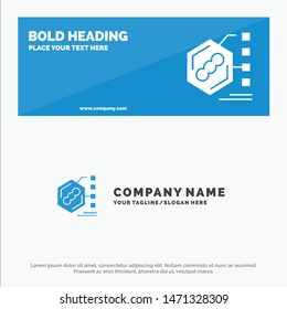 Bacteria, Biochemical, Examination, Form, Life SOlid Icon Website Banner and Business Logo Template. Vector Icon Template background