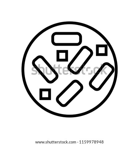 Bacteria Icon Vector Isolated On White Stock Vector Royalty Free